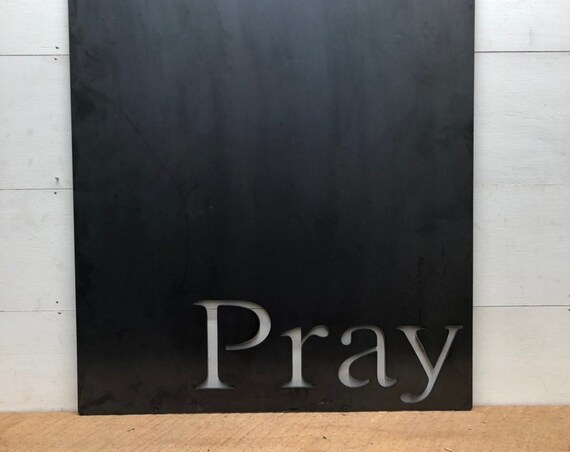 Pray Magnetic Metal Board, Christian Metal Decor, Religious Decor, Useful Metal Decor, Picture, Card and Artwork Display, Metal Word Art