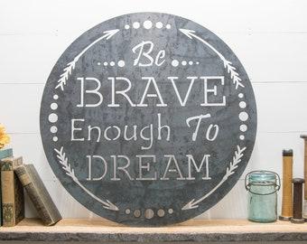 Rustic Home Decor, Metal Wall Art, Inspirational Quotes