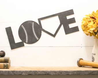 Baseball Love metal Sign Baseball Decorations Baseball Decor Baseball Fathers Day
