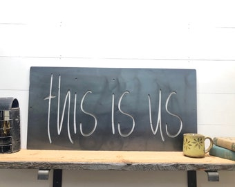 This Is Us Sign Metal Wall Decor