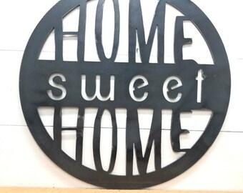 Home Sweet Home Metal Circle Decor
