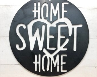 Rustic Farmhouse Porch Home Sweet Home Sign