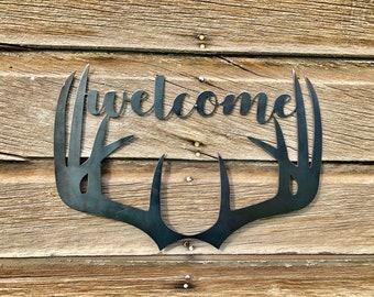 Custom Metal Sign, Wedding Welcome Sign, Boyfriend Gift, Cabin Decor