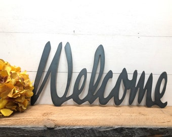 Metal Welcome Sign - House Warming Gift - Host Gift -