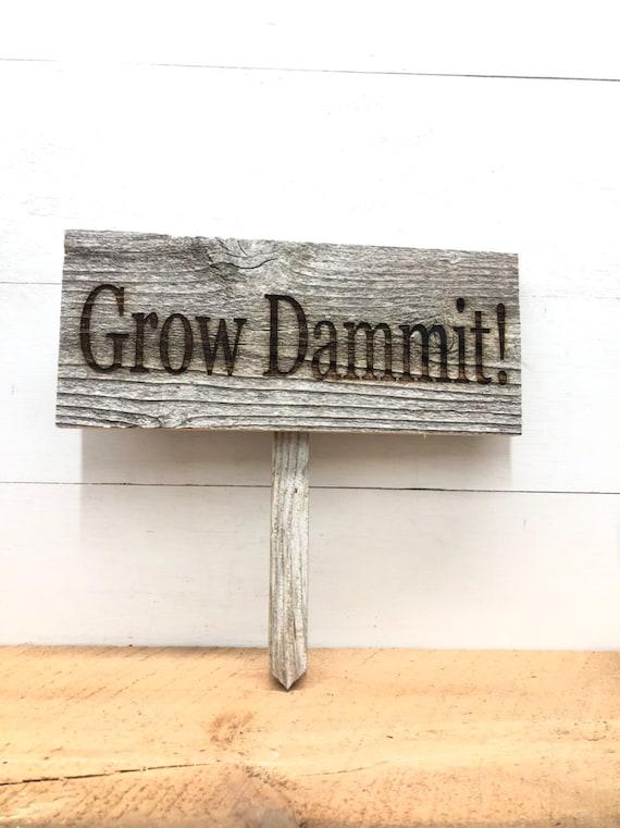 Garden Marker Signs Reclaimed Barnwood Gardener's Gift