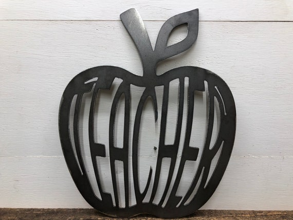 Teacher's Apple Metal Wall Decor