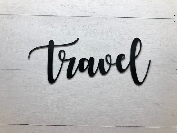 Metal Travel Decor