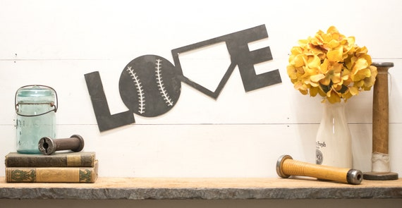 Baseball Love metal Sign Baseball Decorations Baseball Decor Baseball Fathers Day