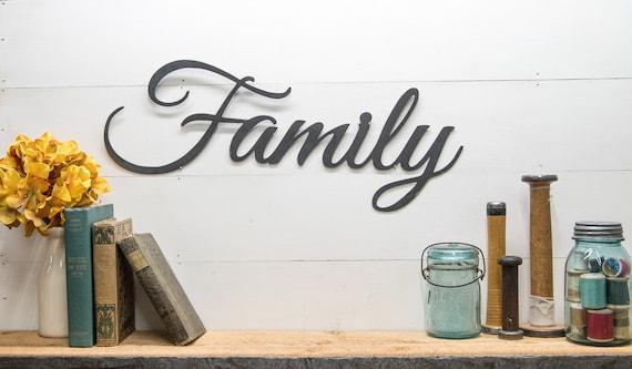 Rustic Family Metal Decor Sign, Joanna Gaines Farmhouse Style Decor, Fixer Upper, Country Home Design, Picture Wall Decor, Steel Home Decor
