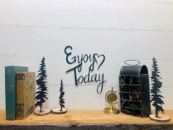 Enjoy Today Metal Home Decor Sign, Heart Decor