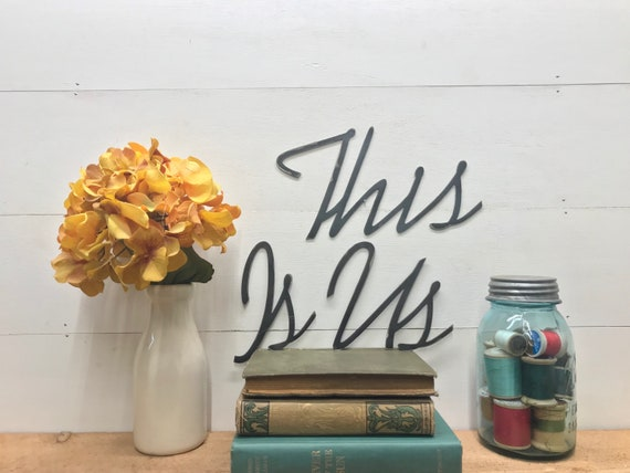 This Is Us Metal Wall Hanging