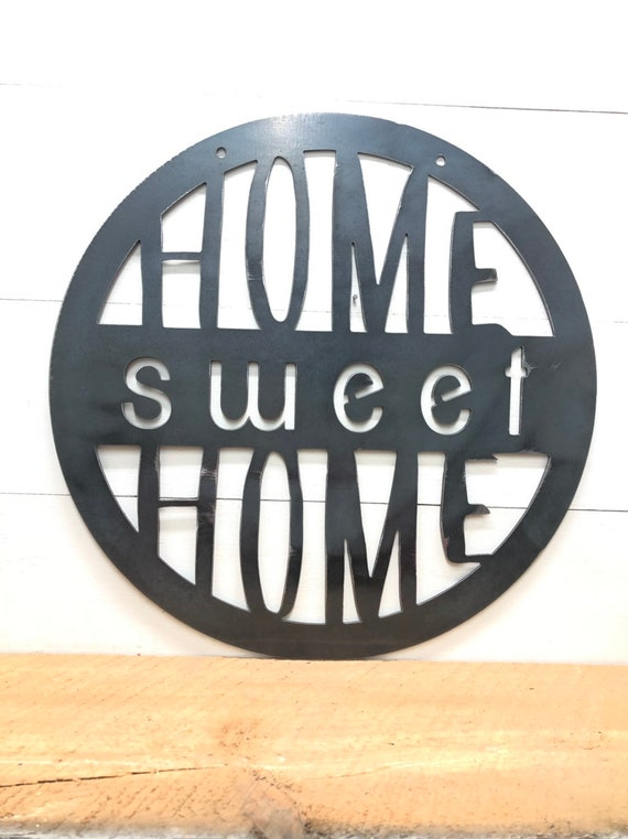 Home Sweet Home Metal Circle Decor