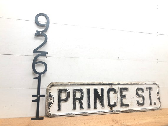 Outdoor House Number Home Address Sign Metal Number Sign Rustic House Numbers Vertical Numbers Powder Coated Sign