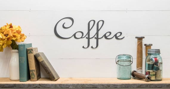 coffee bar sign Metal wall words coffee sign kitchen coffee bar