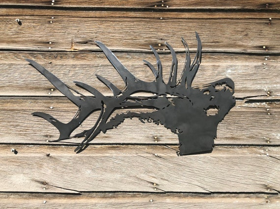 Bugling Elk Fireplace and Cabin Decor