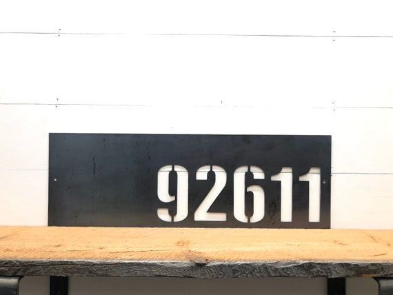 Personalized Horizontal Metal Address Plaque or Mailbox Numbers Sign