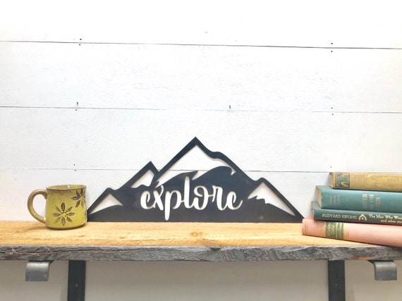 Explore Mountains Metal Wall Decor