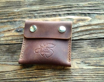 Leather Coin Pouch, Coin Wallet, Pouch Wallet, Leather Wallet, Crazy Horse Leather, Handmade Wallet, Purse, Mens Leather Wallet, Black