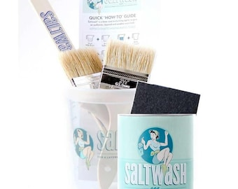 Saltwash Paint Additive!  This is how you can achieve that textured layered look or beachy look on your painted pieces! Salt Wash!