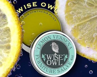BACK IN STOCK!!!  Wise Owl Lemon Verbena Furniture Salve, Natural Furniture Polish, 7 scents plus unscented
