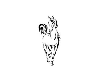 Arabian Horse Silhouette Download Unique Animal Svg Dxf Eps Ai Png Instant Equestrian File Pretty Outline Equine