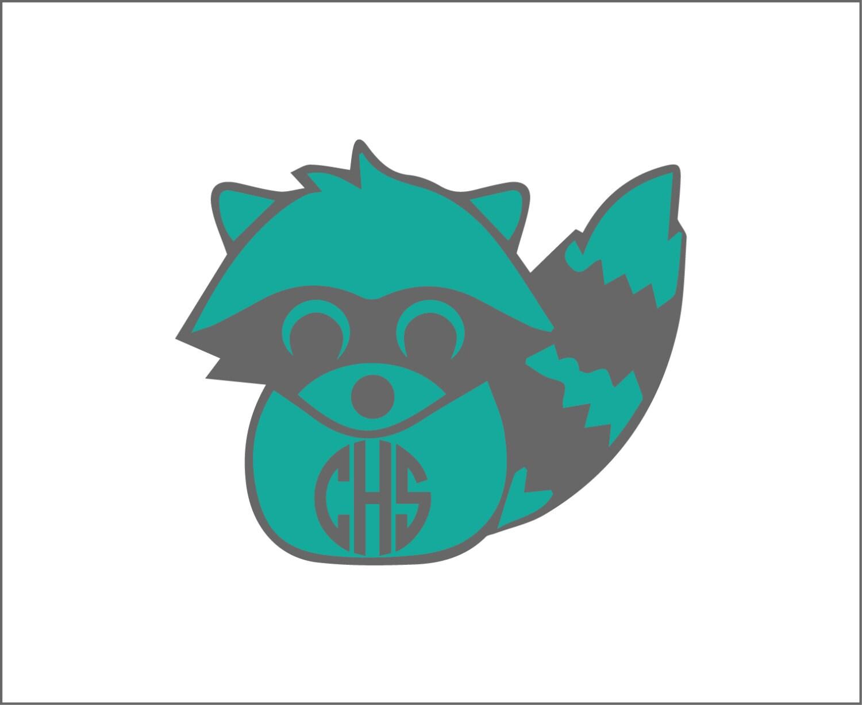 Waschbär Monogramm Aufkleber Yeti-Aufkleber niedlichen Tier | Etsy
