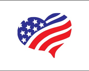 Flag heart svg | Etsy