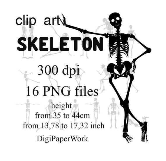 Silhouettes Skeleton Clipart Halloween Skeleton Digital Clipart Instant Download Scrapbooking Elements clip art halloween Skeleton