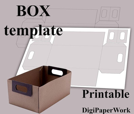 Box template Printable box Digital box Paper box DIY Letter A4