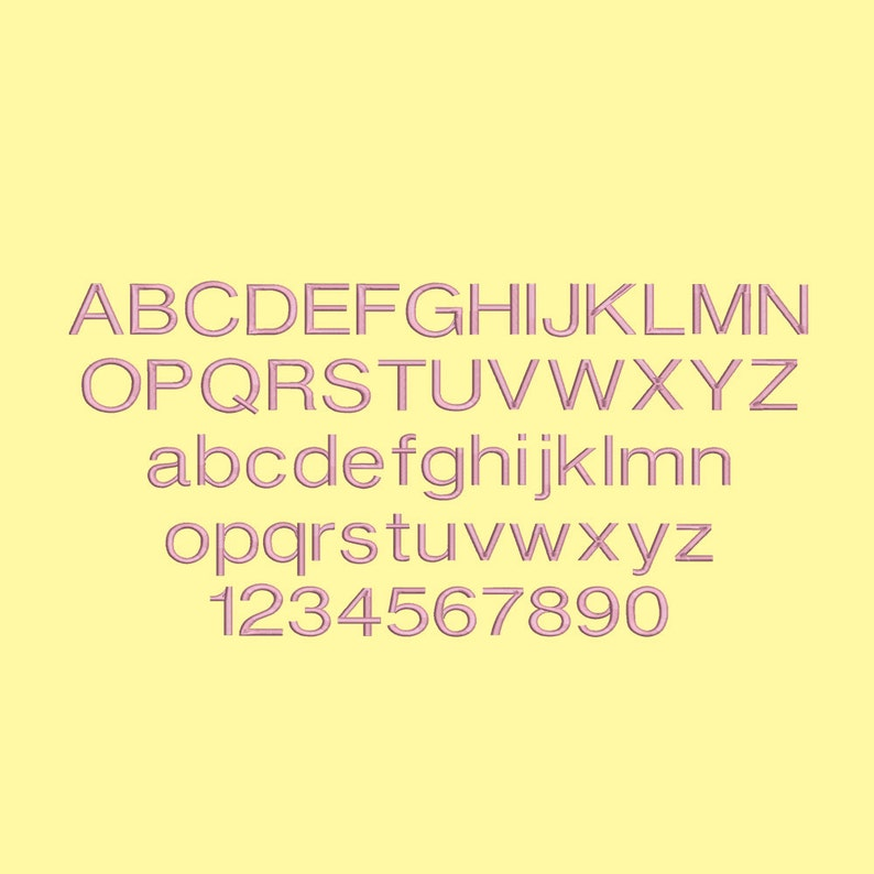 4 Size Helvetica Font Embroidery Designs, BX fonts Machine Embroidery  Designs - 9 File Fomats