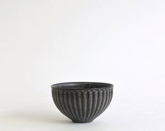 Shinogi Cafe au lait Bowl S (Blue Black)  ; Koji Kitaoka (15005702-W-SBG)