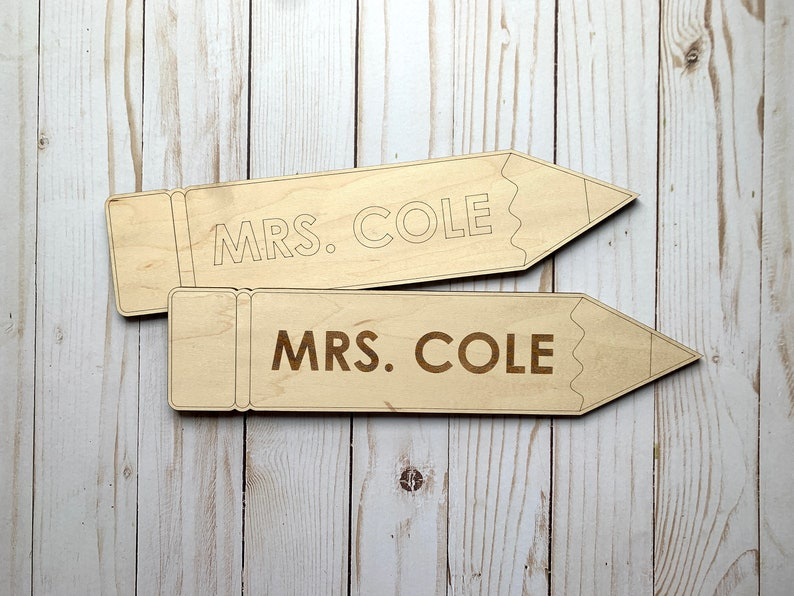 Teacher or Coach Name Pencil Sign  Customize & Personalize  image 0
