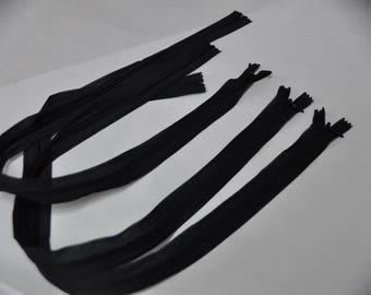 Invisible zipper black 60 cm
