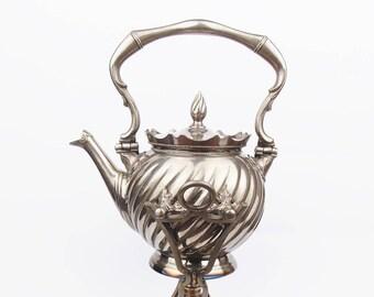 Antique 1903 Art Nouveau Gerhardi & Co German Alpacca Kettle Teapot Jagdritt