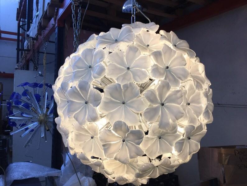 Lampadario sputnik vetro murano tipo mazzega venini barovier etsy