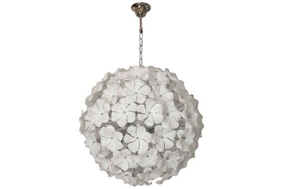 Grande lampadario in vetro di murano policromo u gognabros
