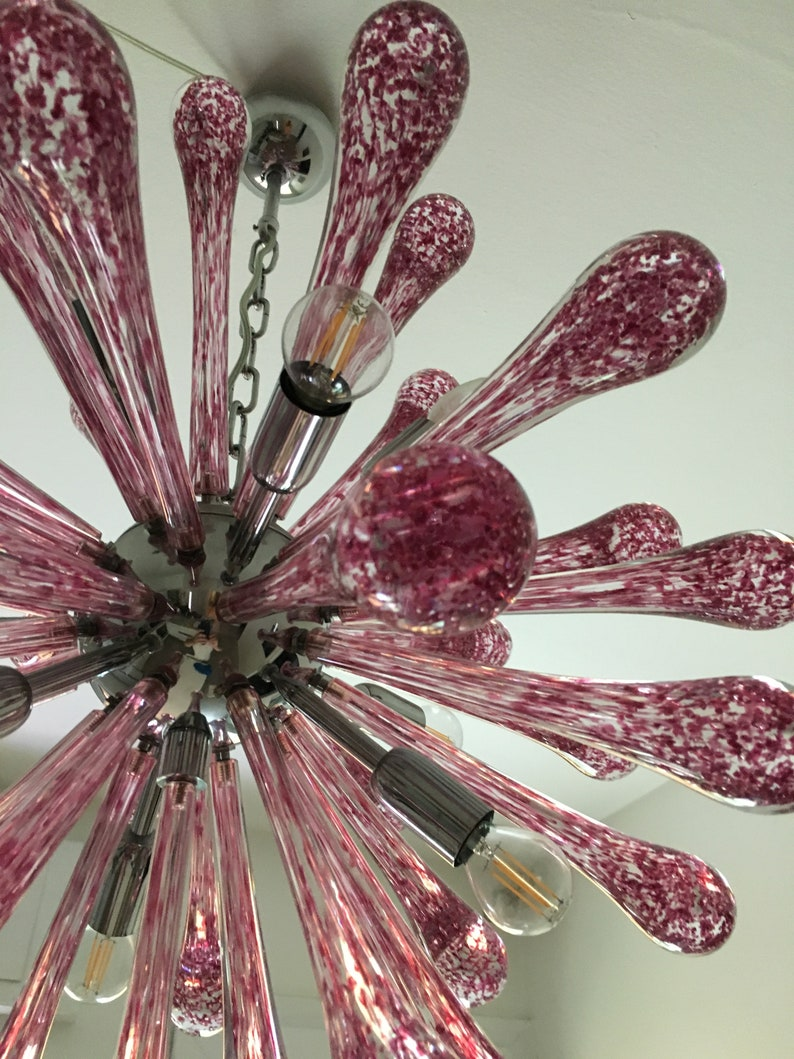 Lampadario sputnik vetro glass murano tipo mazzega venini evvr3GEa