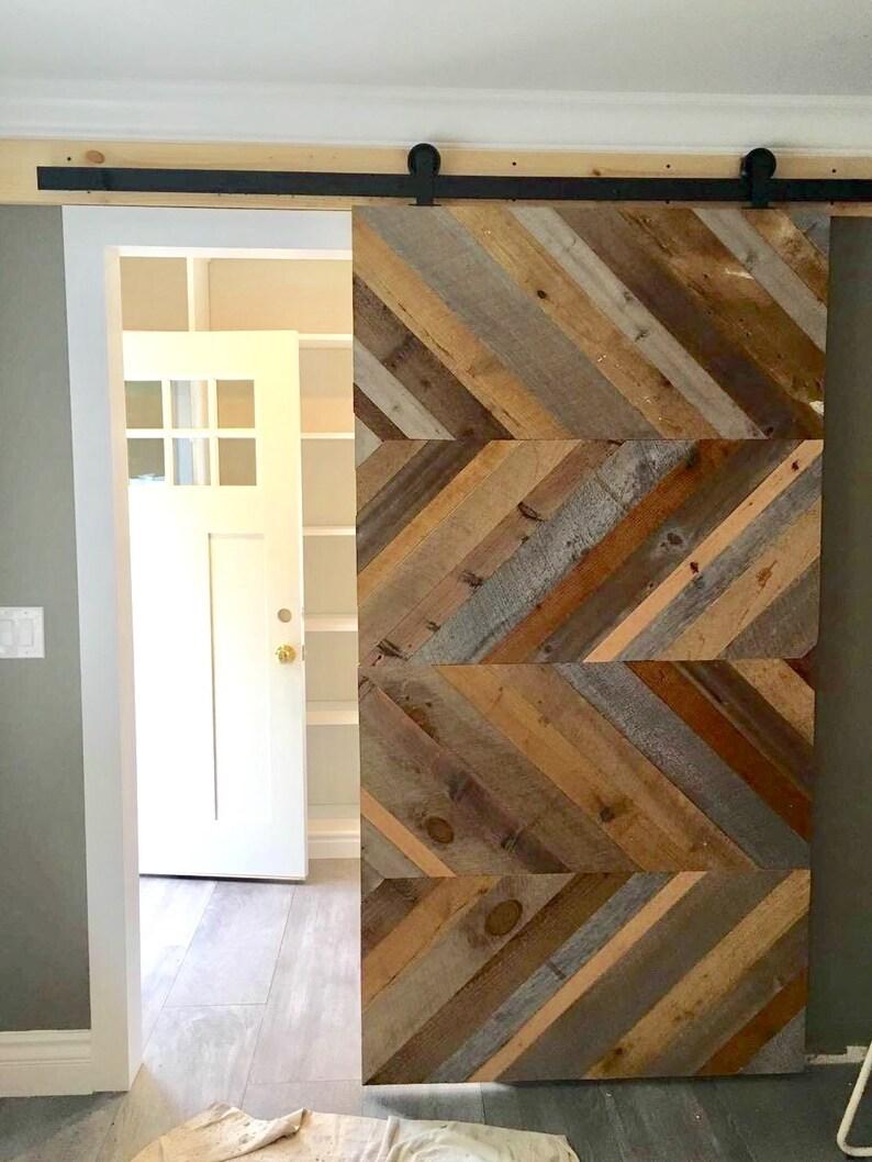 Driftwood Or Reclaimed Barn Door Custom Sliding Barn Door Etsy