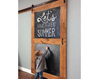 Chalkboard Custom Sliding Barn Door