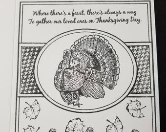 Color your own Thanksgiving card