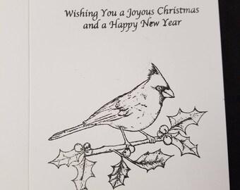 Christmas card to color