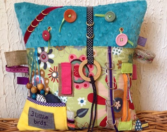 Dementia fidget cushion, dementia activity cushion, Alzheimer cushion, dementia lap cushion, sensory cushion, dementia sensory cushion,