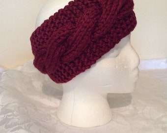 Super Chunky Hand Knitted Headband Cable Design