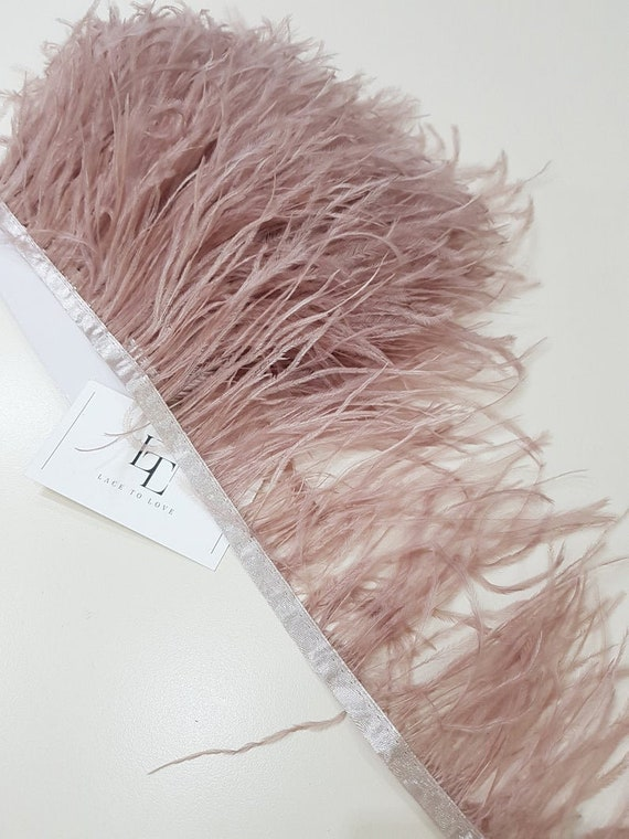 1 Yard White Feather Ribbon Trim