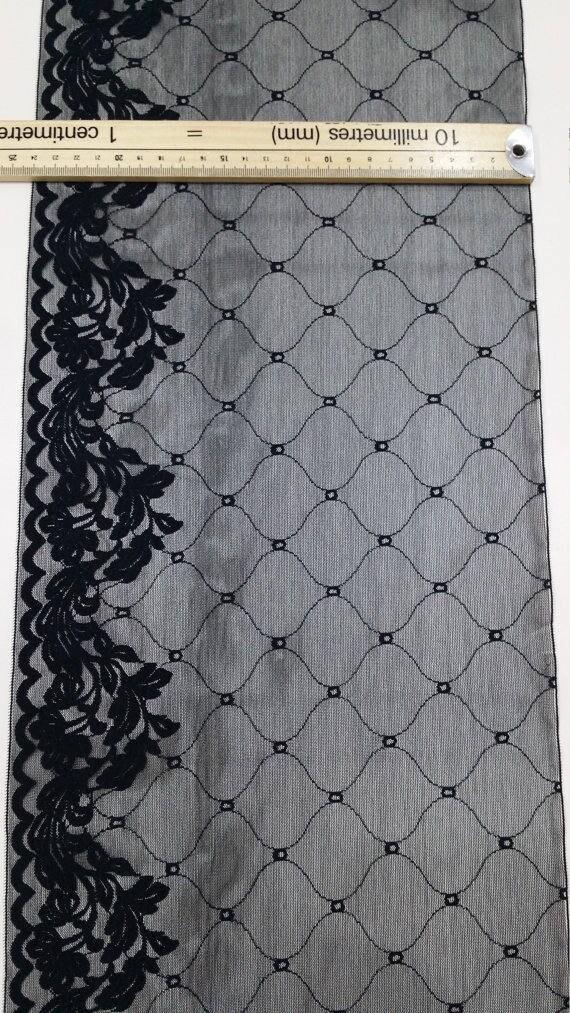 Noir dentelle élastique passementerie, dentelle de dentelle Français, Chantilly, dentelle élastique dentelle de extensible trimm robe de soirée dentelle Lingerie dentelle Chantilly JE11361 e324f8