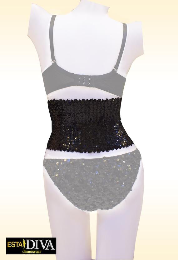 Latin Sequin Dress Destella Ballroom Costume Popstar Singer Dancer Outfit Custom-Made