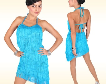 Latin Dance Dress - La Flor - Latin dance dress, Latin dress, Latin fringe dress, Latin dancewear