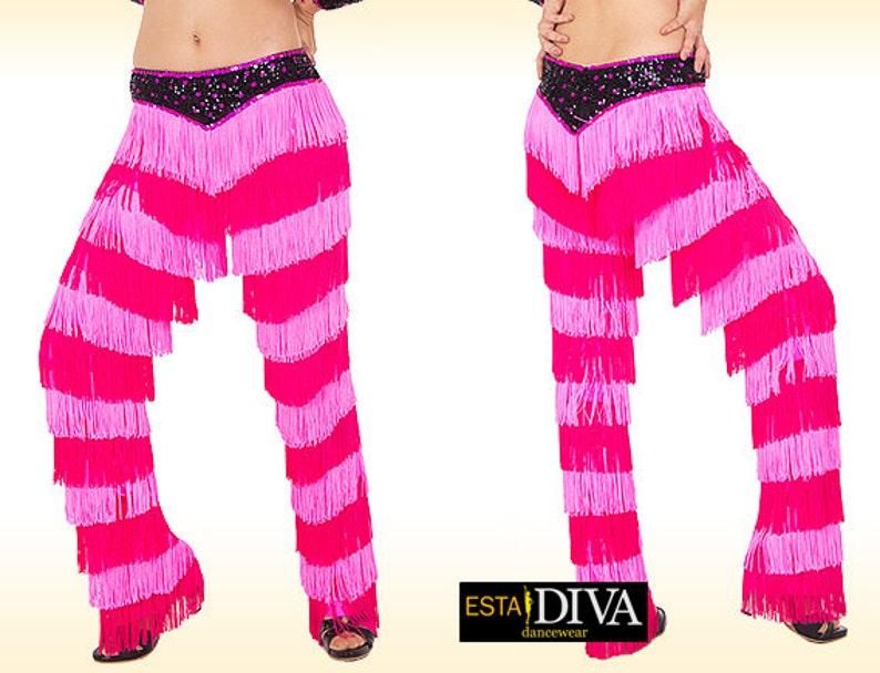 BLACK SALSA Latin SAMBA Fringe YULIA dance pants /& Top