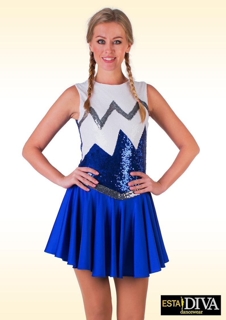 16bc1d015979f Majorette robe bleu Marie Twirler robe Twirler Costume