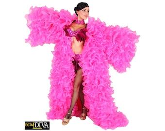 Organza Coat Ruffle Queen Drag Queen Ruffle Wing Outfit Custom-Made